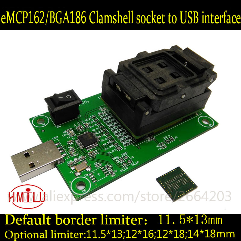 EMMC153 169 EMCP162 186 EMCP221 série testeur de prise de puce lecteur de programmeur USB port récupération de données kit de bricolage électronique outil de téléphone - 5