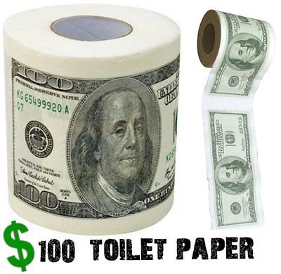 One Hundred Dollar Bill Toilet Paper Money Roll $100 - Novelty Fun Gag Gift Joke фиксатор для суставов one hundred