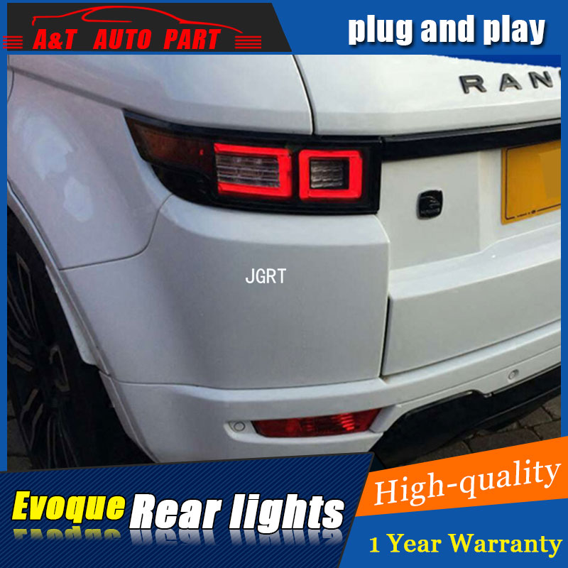 Car styling Accessories for Land Rover Evoque rear Lights led TailLight for Evoque Rear Lamp DRL+Brake+Park+Signal lights led for land rover range rover evoque inside