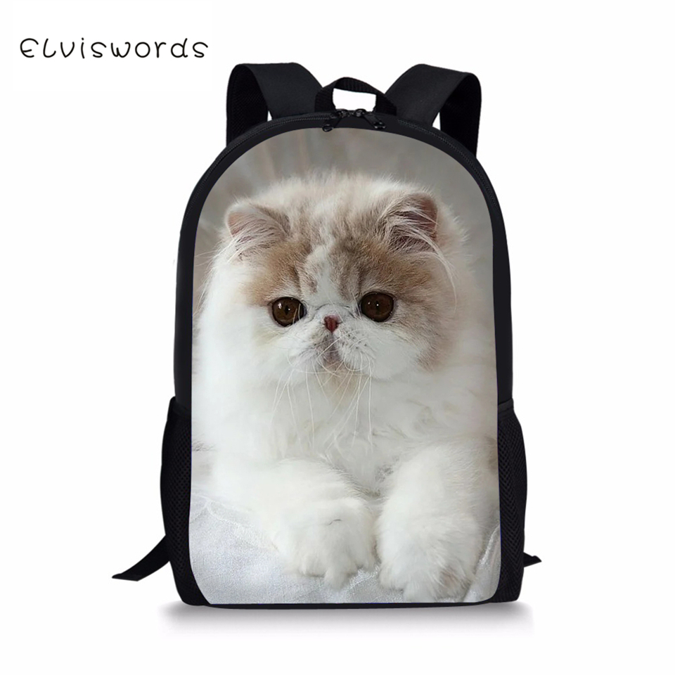 ELVISWORDS Kids Backpacks Kawaii Children 39 s School Bags Persian Cats Pattern Toddler School Bags Fashion Women Travel Backpacks in School Bags from Luggage amp Bags