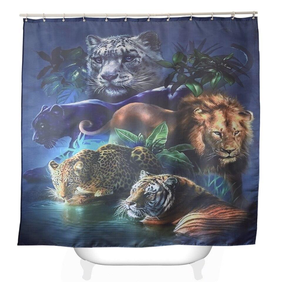 Svetanya Animal Print Shower Curtains Bath Products Bathroom Decor With Hooks Waterproof 71x71 59x71