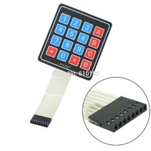 50PCS/LOT 4 * 4 Matrix Keyboard 16 Key Membrane Switch Keypad For Arduino