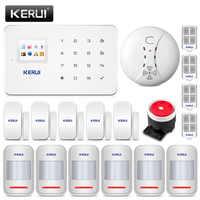 KERUI G18 Wireless GSM Einbrecher Home Security Alarm System Haus Schutz Kit Telefon APP Fernbedienung Mit Rauchmelder