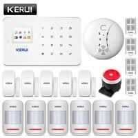 KERUI G18 Беспроводная GSM охранная домашняя охранная сигнализация комплект для защиты дома телефон приложение дистанционное управление с дете