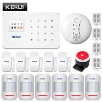 KERUI G18 Беспроводной GSM охранная Главная Системы дом комплект защиты телефон приложение дистанционного Управление с дыма