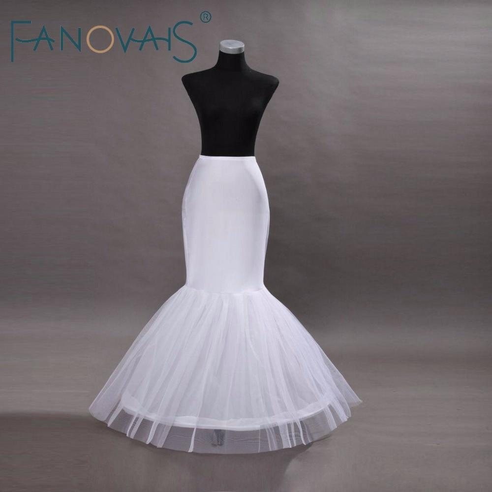 Tulle Ruffles Mermaid Wedding Petticoat One Hoop Bridal Petticoats Trumpet Petticoat Wedding Accessories Bridal Underwear