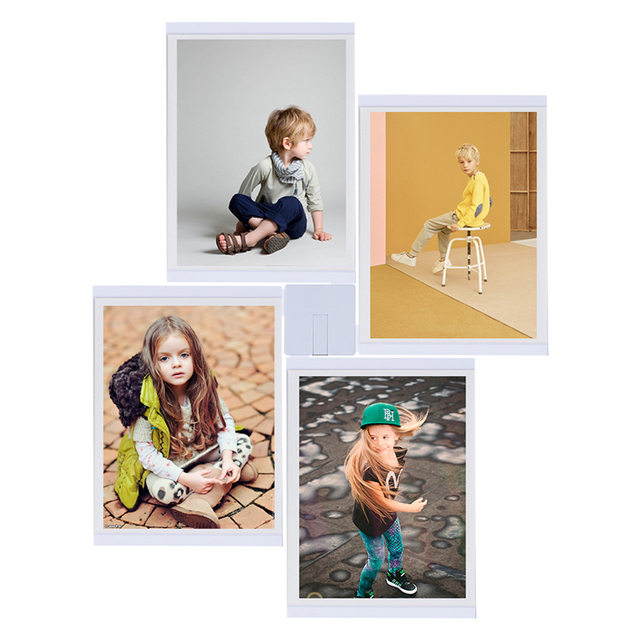 TTLIFE Creativo 8x10 Blanco Marco de Fotos Decoración de La Pared ...