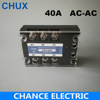 SSR 40A Three Phase Solid State Relay  AC control AC  70-280VAC to 90-480VAC Free shipping SSR 40AA - DISCOUNT ITEM  10% OFF All Category