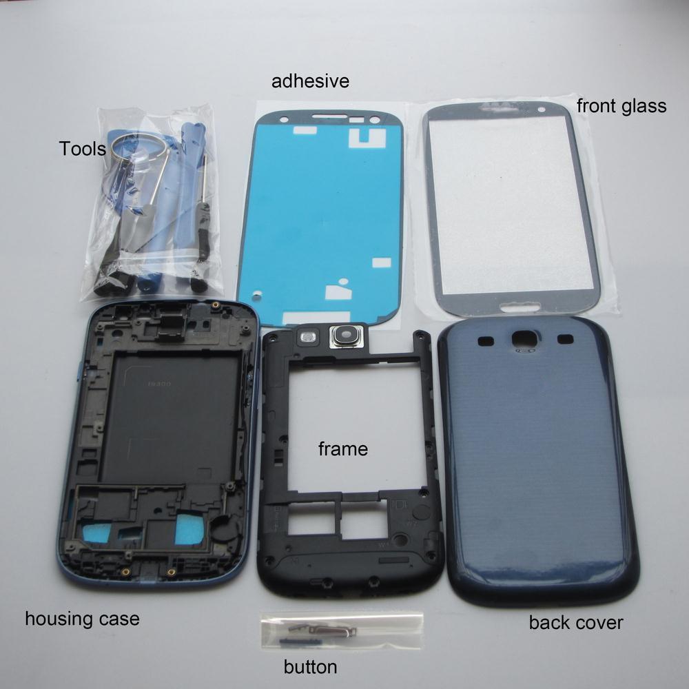 Para samsung galaxy s3 i9300 9300i carcasa exterior completa + ...