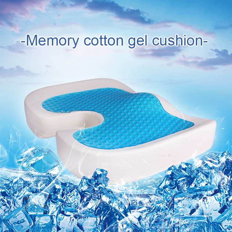 New Gel Sponge Cushion Office Thicken Upholstery Memory Foam U Shape Cushion Silicone Sofa Cushion Soft