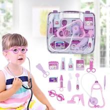 Kids Educational Pretend Doctor Toy Set Child Medical Kit Case Nurse Roleplay Gifts For Random Color