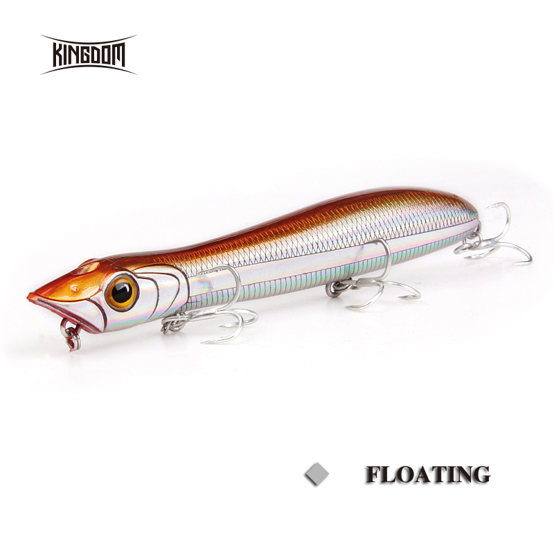 Kingdom Poppers Fishing Lures Hard Bait Topwater 110mm 12.6g,125mm 17.8g Fishing Wobblers Seabass Pike Model 6501