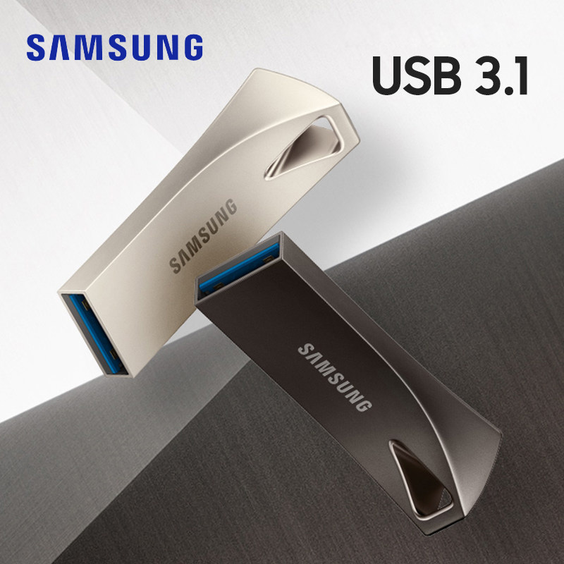 SAMSUNG BAR Plus <font><b>USB</b></font> <font><b>Flash</b></font> Drive 32g 64g pen drive 128g 256g metal mini pendrive USB3.1 memory stick storage device u disk image