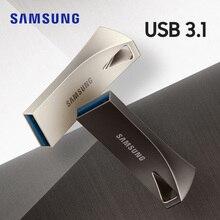 سامسونج بار زائد USB فلاش حملة 32 جرام 64 جرام القلم محرك 128 جرام 256 جرام المعادن بندريف صغير USB3.1 ذاكرة عصا تخزين جهاز u القرص
