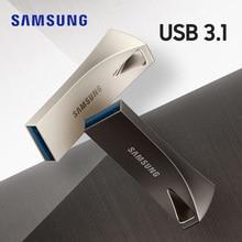 サムスンバープラス usb フラッシュドライブ 32 グラム 64 グラムペンドライブ 128 グラム 256 グラム金属ミニペンドライブ USB3.1 メモリスティックストレージデバイス u ディスク