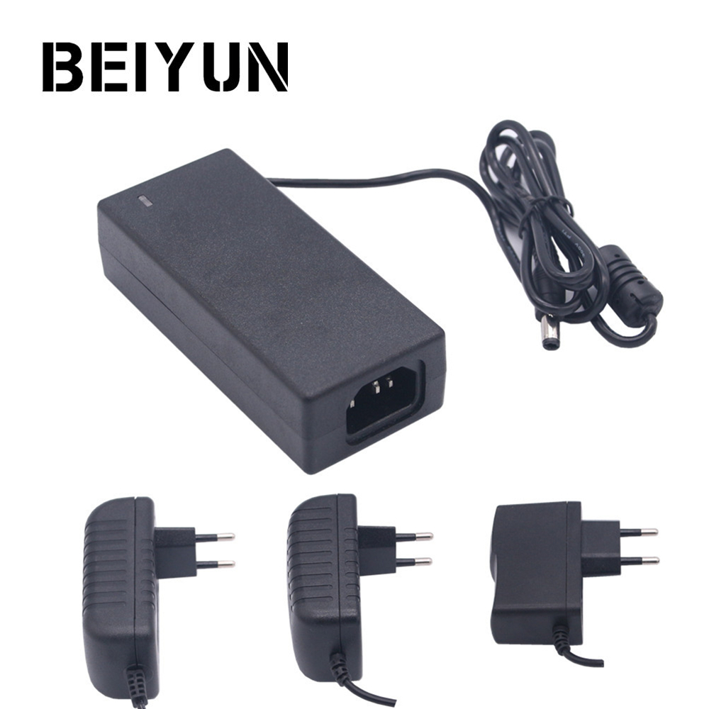 цена на BEIYUN DC 12V Power Adapter AC100-240V To DC12V Lighting Transformers Output 1A 2A 3A 5A Switching Power Supply For LED Strip