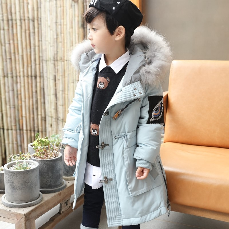 Girls Boys Duck Down Jackets Clothing 2017 Winter Fur Hooded Kids Girls Thicken Parkas Boys Children Outwear Clothes 9 10 11 12 kids clothes children jackets for boys girls winter white duck down jacket coats thick warm clothing kids hooded parkas coat