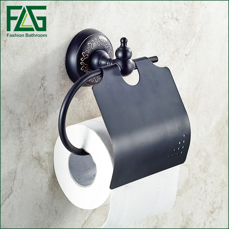 FLG Wall mounted Bathroom Accessories toilet paper holder toilet accessories black paper towel holder wall mounted toilet paper holder bathroom accessories antique bronze bathroom hardware 80386