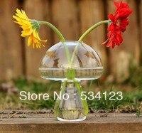 Dia 10 H12cm Mushroom Glass Vase For Home Decoration Vase Decoratives Plant Pot Glass Terrarium