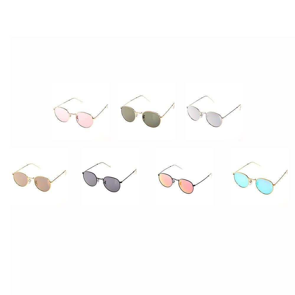 Роскошные брендовые дизайнерские Круглые Солнцезащитные очки женские мужские брендовые дизайнерские винтажные Ретро зеркальные солнцезащитные очки для женщин женские солнцезащитные очки