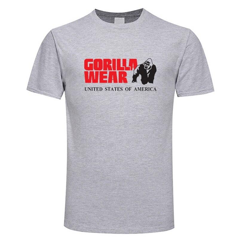Summer mens Brand clothing Men's   T     Shirts   Golds Fitness Men Bodybuilding Gorilla Wear   Shirt   Tops