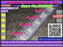 Aoweziic 100%新しいインポート元LM2903DR LM2903デュアル電圧コンパレータsop 8 icチップ