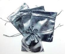 300 unids 7*9 cm bolso de lazo bolsas de mujer de la vendimia de Plata para Wed/Partido/de La Joyería/de la Navidad/bolsa de Envasado Bolsa de regalo hecho a mano diy