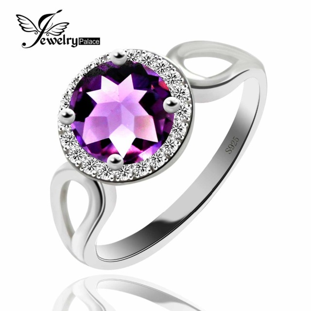 Fashion Elegant Purple Amethyst Rings For Women Genuine Solid 925 Sterling Silver 2016 Brand Design Charm Vintage Jewelry