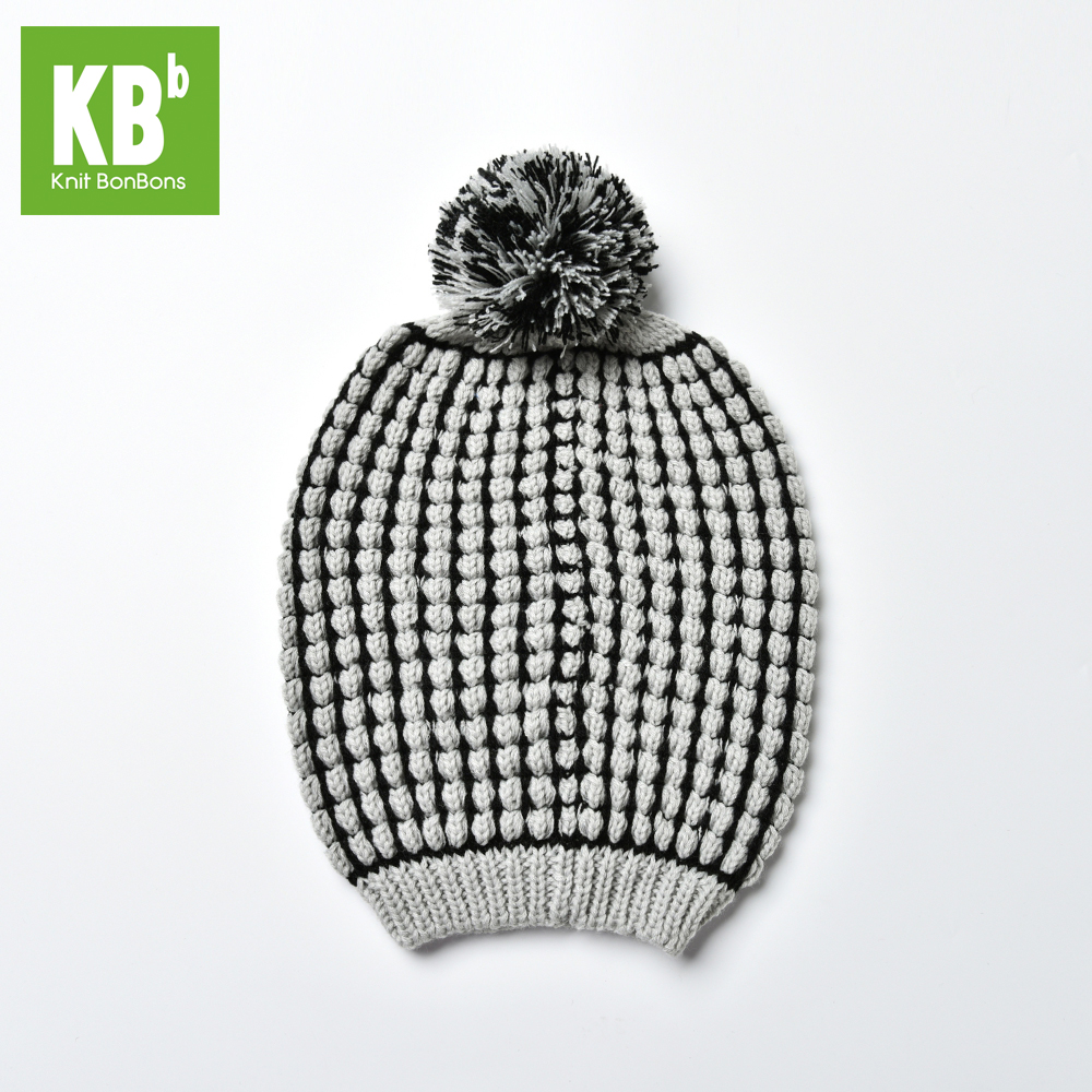 SALE KBB Xmas Black Friday 2 Colors Warm Christmas Box Striped Pom Pom  Children Women Men Knit Winter Hat Beanie Female Cap-in Skullies   Beanies  from ... 2baa33d74be