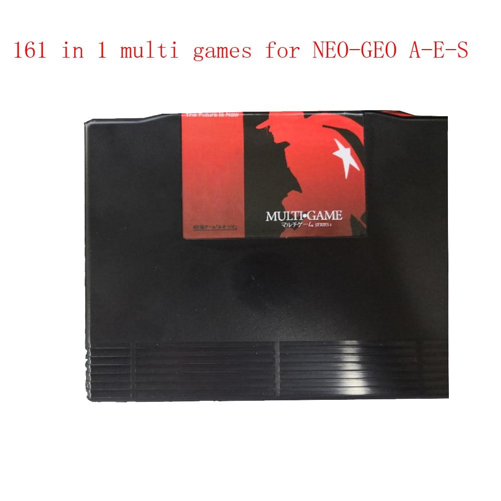 Купить с кэшбэком 161 in 1  multi game cartridge for N-E-O G-E-O A-E-S jamma motherboard  cart Mutli games Cartridge Cassette 161 games