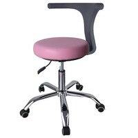 15%,Ergonomic Doctor Stool Dentist Swivel Rolling Chair with Back Swivel Adjustable Dentist Stool Dental Clinic SpaMassage