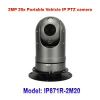 2MP High Speed 20x Optic Zoom Infrared IR 50M Mini Portable Smart Vehicle Mounted Security IP