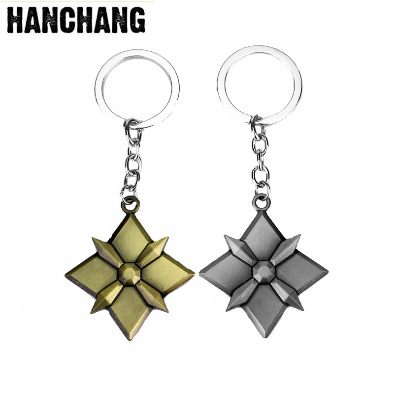 Dropshipping Anime Blizzard Pendant keychain Accessories Design Metal Men Keyring Key Holder Chaveiros Souvenirs