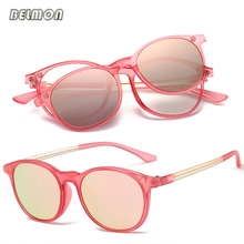 Belmon Spectacle Frame Men Women With Polarized Clip On Sunglasses Magnetic Glasses Male Driving Prescription Optical RS494