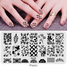 SJQL-Ногтей Штамповки Пластины Пластиковые Ногтей Штамп Пластиковые Шаблоны для Ногтей Гель Для Ногтей Nail Art Инструменты для Маникюра(China (Mainland))
