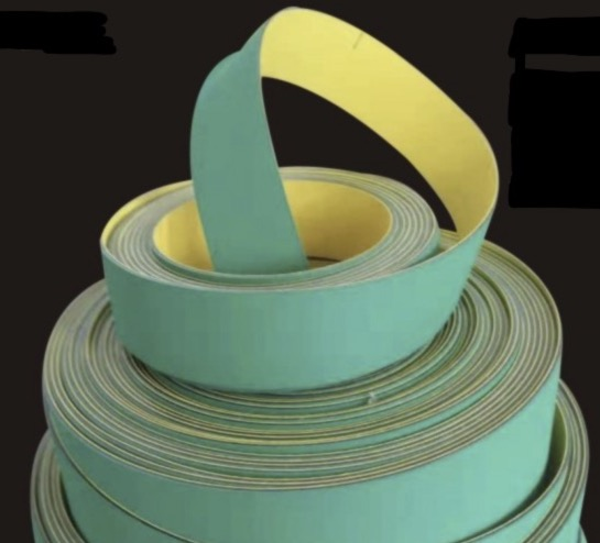 2Pieces Lot 890x50x2mm Nylon Chip Base Band Textile Flat Belt Conveyor Transmission Timing Belt