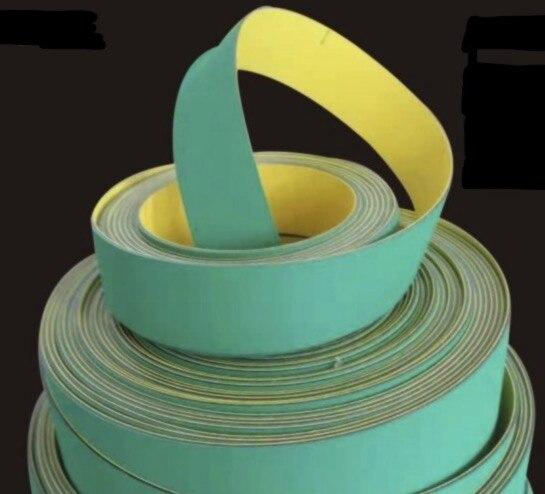 2 pièces/lot 890x50x2mm Nylon puce Base bande Textile plat bande convoyeur Transmission courroie de distribution