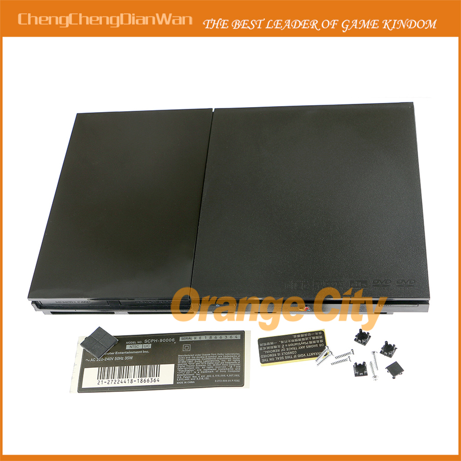 2pcs/lot Full Housing Shell Case for <font><b>PS2</b></font> Slim 9w <font><b>90000</b></font> 9000X Console Cover with label image