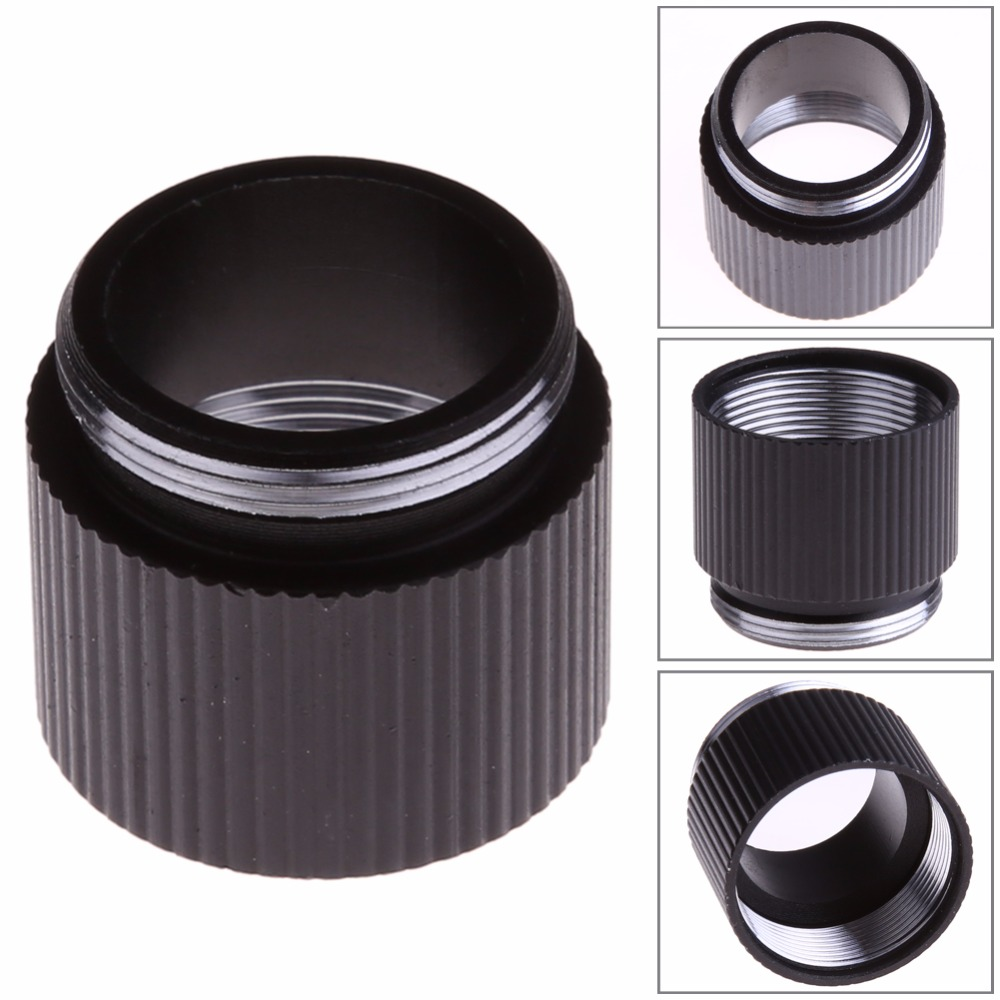 2.7cm X 2cm Black Extension Ring Tube Joint Adapter For Bright Flashlight 18650 Lithium Battery Battery Lamp Holder Converter