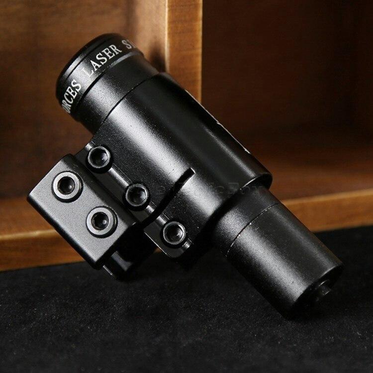 Pistolet Laser tactique chasse visée point rouge portée de visée Laser 20mm Picatinny support de Rail avec 2 interrupteur pour pistolet fusil pistolet Airsoft
