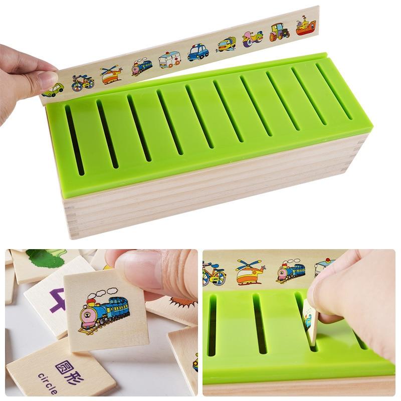 Математическая классификация познавательный, на поиск соответствия детей Монтессори раннего обучения игрушка деревянная коробка подарки для детей