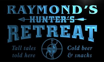 x0036-tm Raymonds Hunter Retreat Custom Personalized Name Neon Sign Wholesale Dropshipping On/Off Switch 7 Colors DHL
