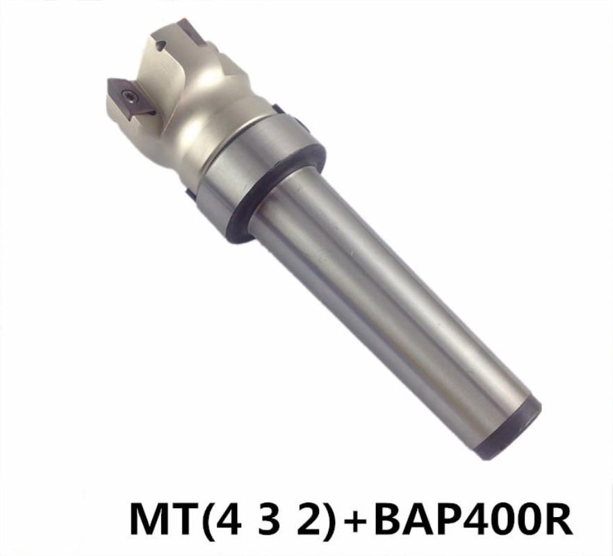 Купить с кэшбэком MT4 FMB22 M16 MT3 FMB22 M12 MT2 FMB22 M10+BAP400R 50 22 4T Combi Shell Mill Arbor Morse Taper Tool Holder CNC Milling Machine