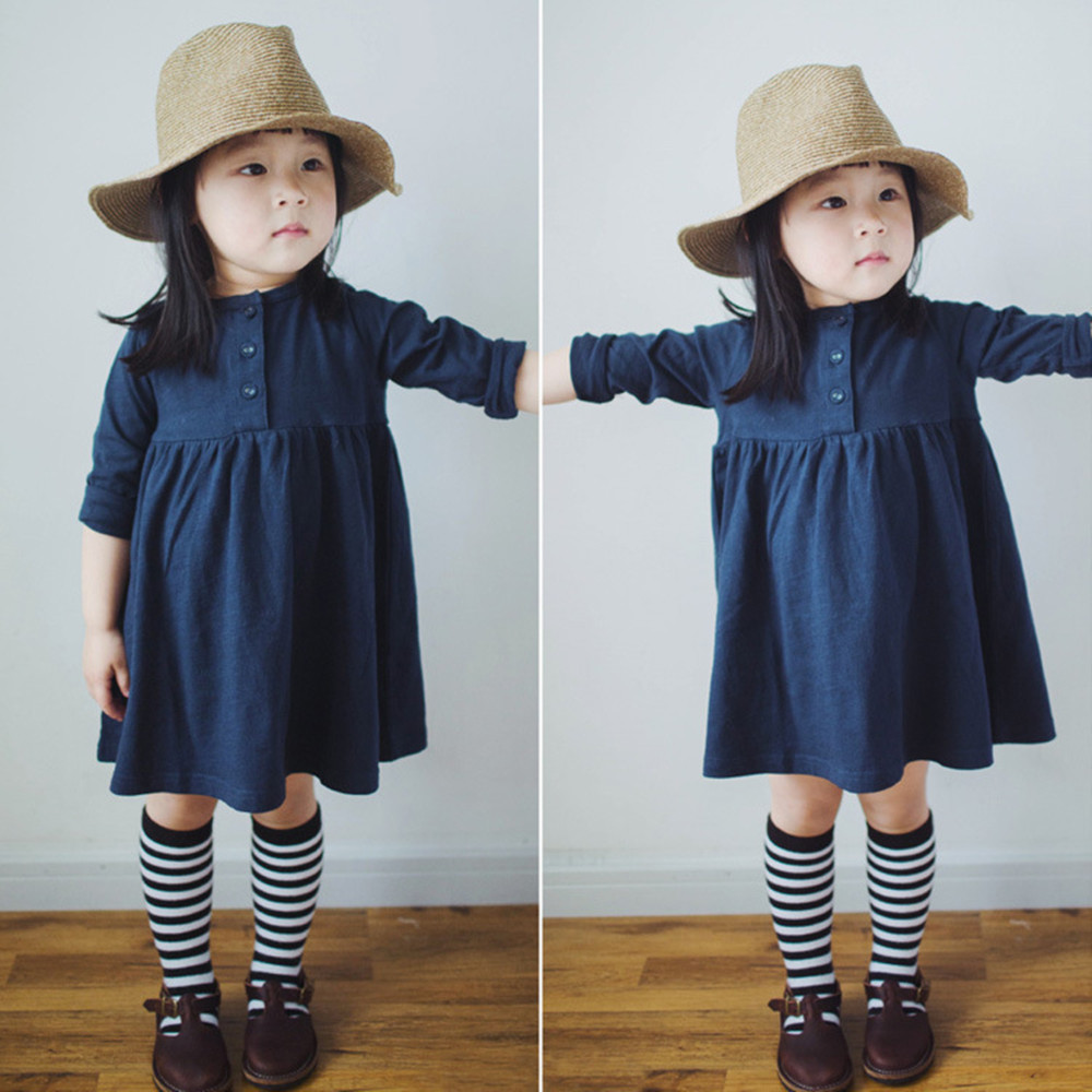 New 2017 autumn / spring children's clothing girls peas dress long-sleeved children girls dress princess princess girls long sleeved children s evening autumn new europe and the united states dress kids clothing red silk