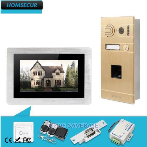 HOMSECUR 7 Wired Video Door Phone Intercom System+Golden Camera& Motion Detection for House/Flat