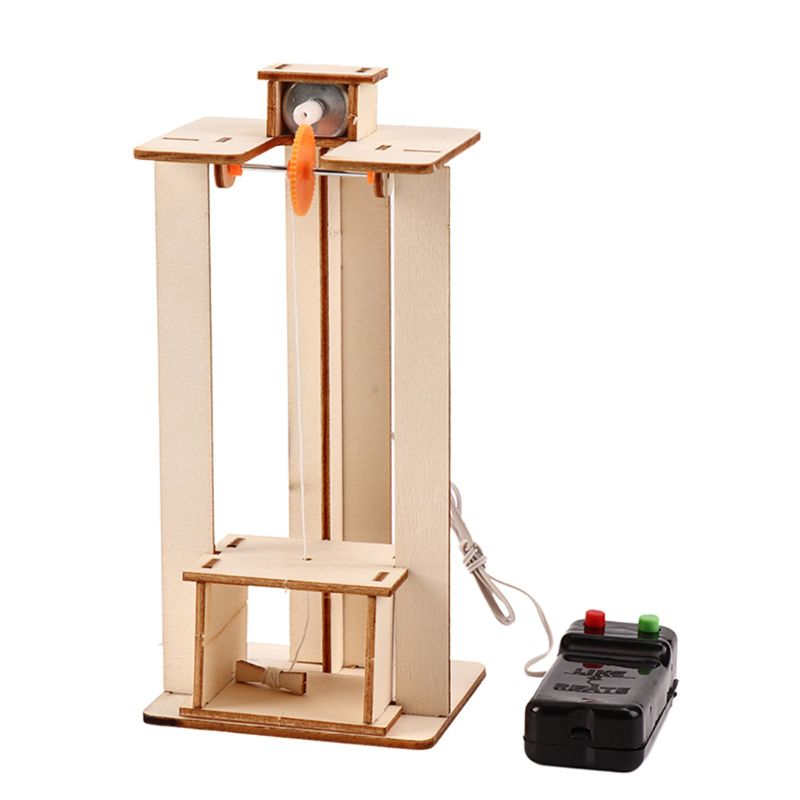 Modelo de elevador eléctrico DIY para niños, juguetes para experimentos de ciencia, rompecabezas, Kits de innovación creativa, educación para la escuela