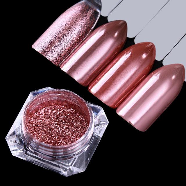 Mirror Nail Glitter Powder Rose Gold