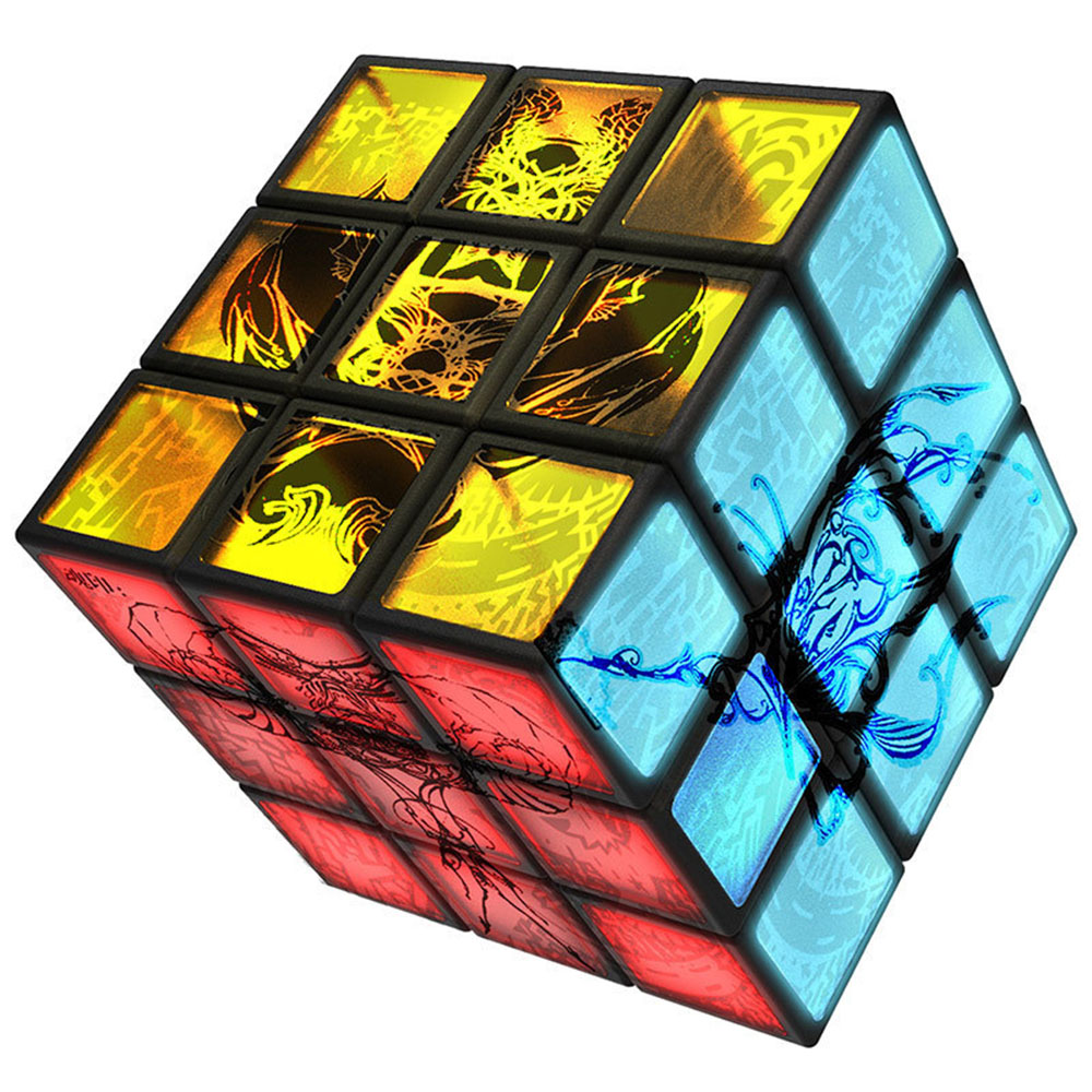 Yu Xin Seigneur USB Imputable LED Luminescent Édition 3*3*3 Magique Cubes Puzzle Vitesse Cube Jouets Éducatifs pour les Enfants Enfants
