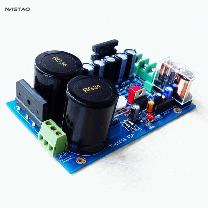 IWISTAO TDA1514A chip Power Amplifier Board Kit or Finished PCBA 2x40W Stereo HIFI Audio DIY Free Shipping free shipping 10pcs cke8002 amplifier chip audio amplifier sop 8