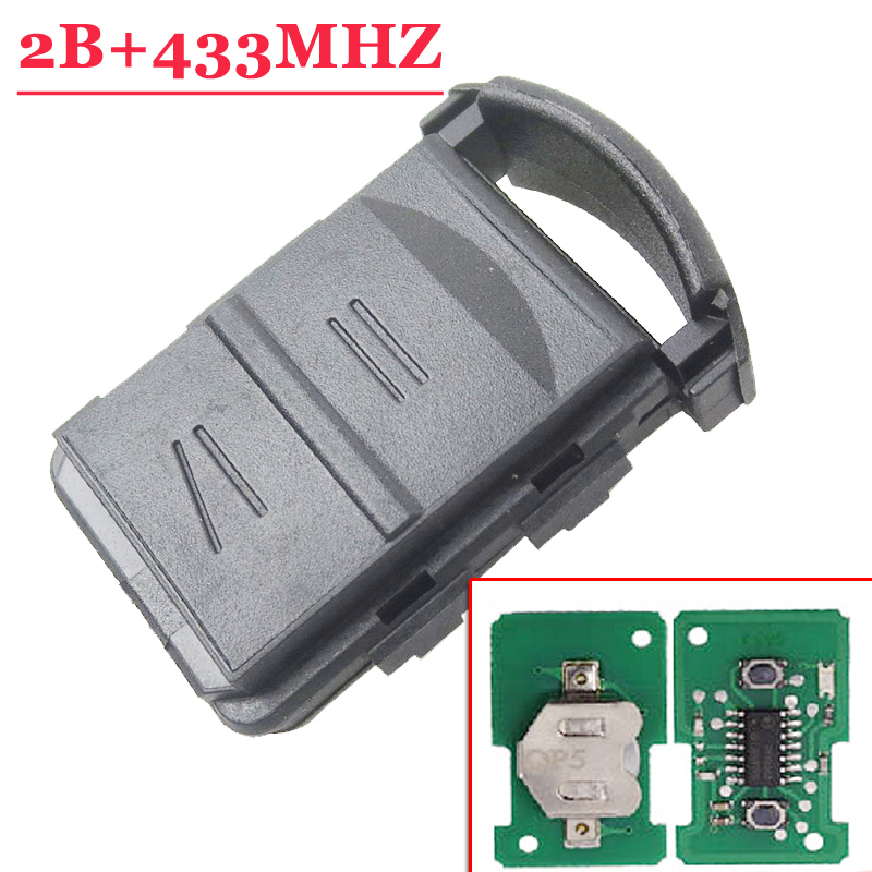 High Quality 2 Button Remote Control 433MHZ For Opel Corsa C Combo B Meriva A (1piece)
